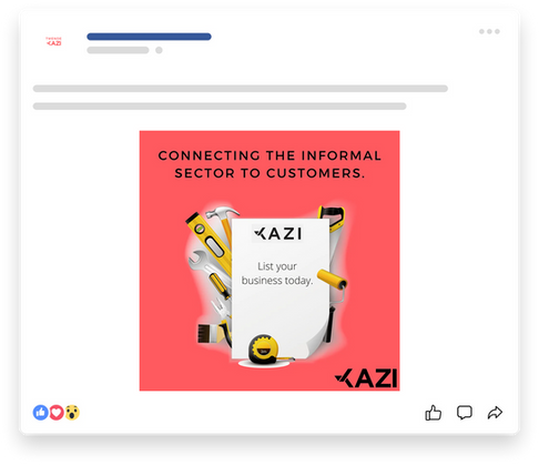 Kazi Social Media Post