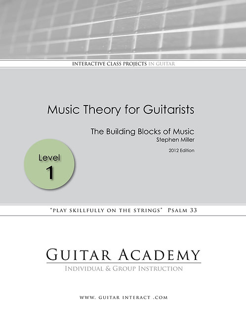 Music Theory for Guitarists - Level 1