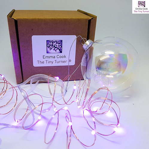 DIY Bauble Kit for Woodturners (Copper Wire; Purple LEDs)