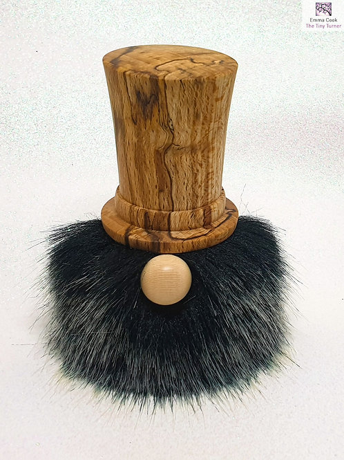Hand-Turned 'Dapper Chap' Gonk with Spalted Beech Hat & Black Beard
