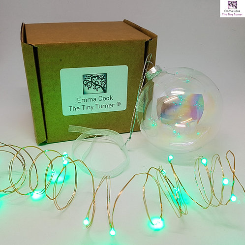 DIY Bauble Kit for Woodturners (Copper Wire; Green LEDs)