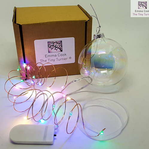 DIY Bauble Kit for Woodturners (Copper Wire; Multicoloured LEDs)