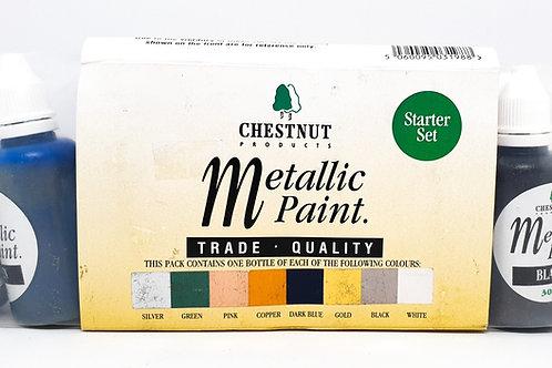 Chestnut Products - Metallic Paint Starter Set - 9 x 30ml
