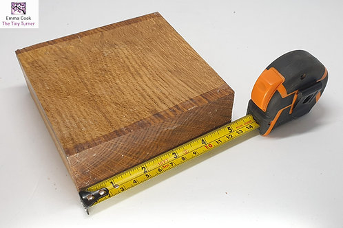 "5"" x 5"" x 2"" Brown Oak Cross-Grain Blank"