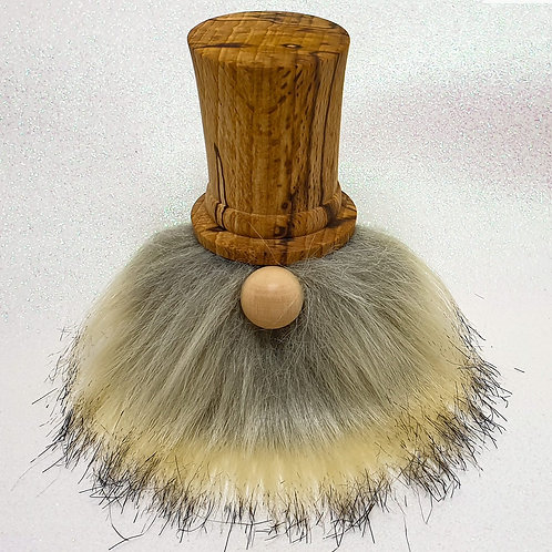 Hand-Turned 'Dapper Chap' Gonk with Spalted Beech Hat & Sand Coloured Beard