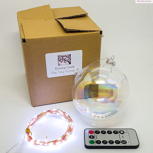 GIANT DIY Lamp/Snowman Kit for Woodturners (USB; Copper Wire; Cold White LEDs)