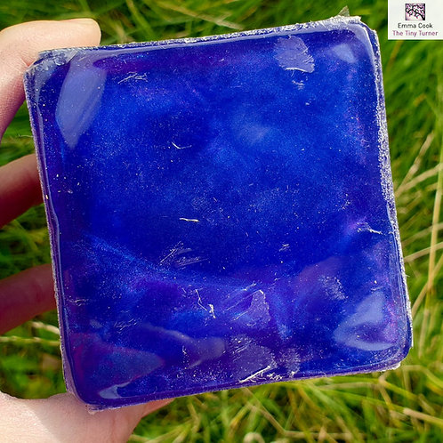 "3"" Hybrid Sphere Blank - Blue & Purple Resins with Blue & Violet Shimmers"