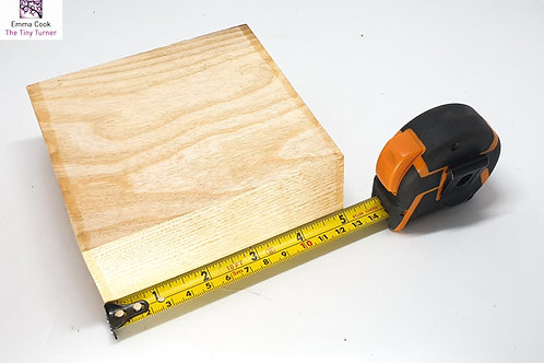 "5"" x 5"" x 2"" Ash Cross-Grain Blank"