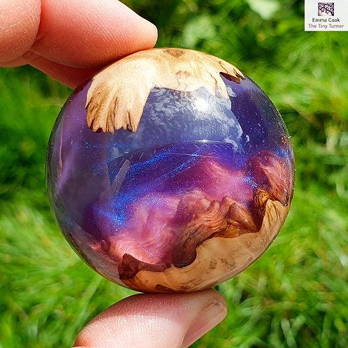 **Listing for Ben H** Mini Hand-Turned Resin/Burr Sphere