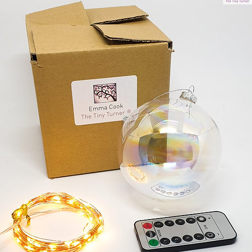 GIANT DIY Lamp/Snowman Kit for Woodturners (USB; Copper Wire; Warm White LEDs)