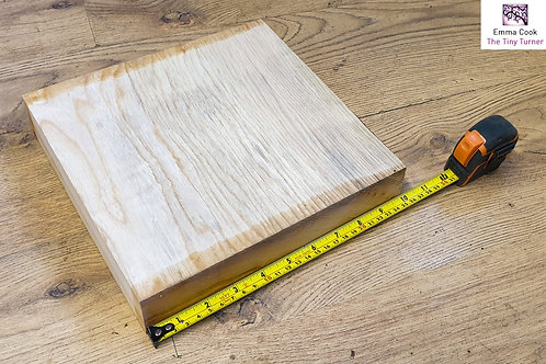 "10"" x 10"" x 2"" Ash Cross-Grain/Bowl Blank"