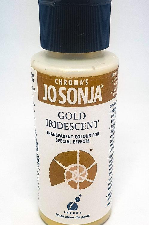 Chroma's Jo Sonja - Gold Iridescent Acrylic Paint 60ml