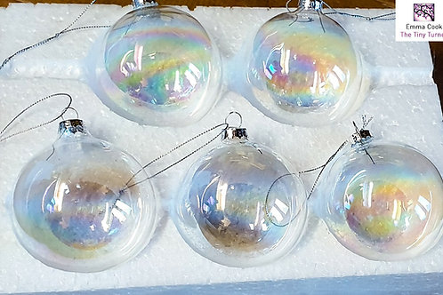 Replacement 'Perfect' 80mm Iridescent DIY Baubles