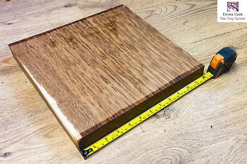 """12"""" x 12"""" x 1 3/4"""" Brown Oak Cross-Grain/Bowl Blank"""