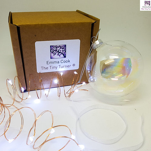 DIY Bauble Kit for Woodturners (Copper Wire; Cold White LEDs)
