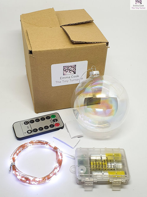 GIANT DIY Lamp Kit for Woodturners (Battery; Copper Wire; Cold White LEDs)