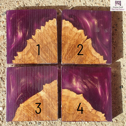"Single 2.5"" Hybrid Pendant Blank - Purple/Gold Shimmer 'Royal'"