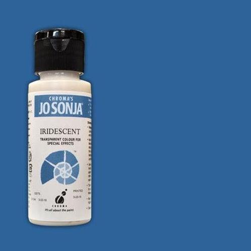 Chroma's Jo Sonja - Blue Iridescent Acrylic Paint 60ml