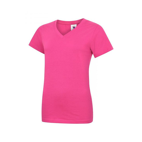 Ladies' V-Neck Embroidered with Team Tiny Logo - WITHOUT Personalisation