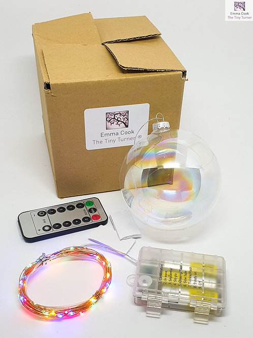 GIANT DIY Lamp Kit for Woodturners (Battery; Copper Wire; Multi LEDs)