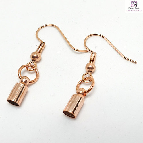 Pair of Ear Hooks with Matching Jump Rings & End Caps