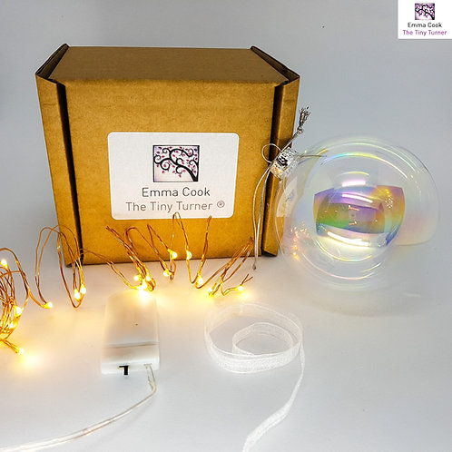DIY Bauble Kit for Woodturners (Copper Wire; Warm White LEDs)
