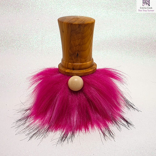 Hand-Turned 'Dapper Chap' Gonk with Yew Hat & Fuchsia Beard