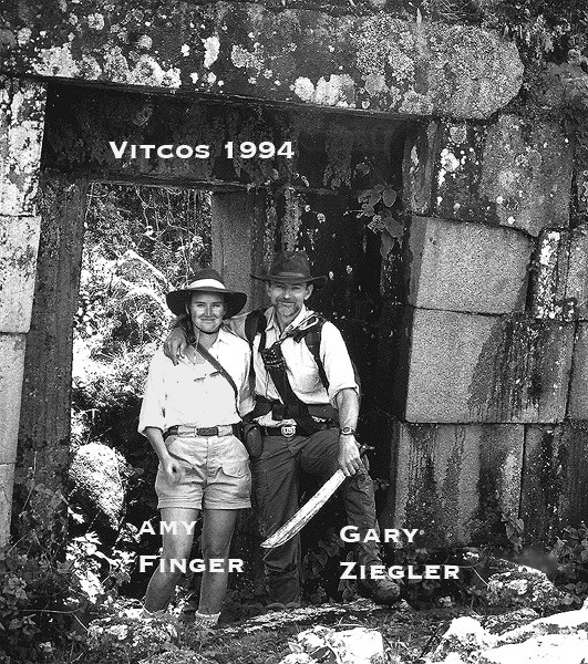 Amy Finger,Gary Ziegler explore the last Inca's palace at Vitcos