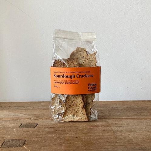Fresh Flour Co - Fermented green Kampot pepper sourdough crackers