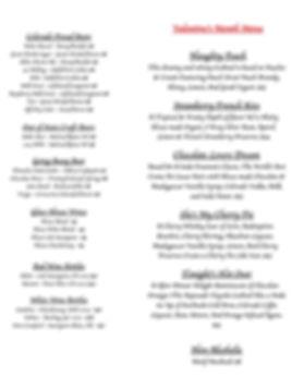 Feb Valentines Month 2020 drink menu cop