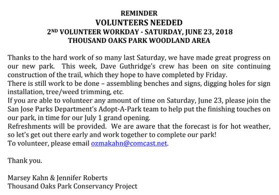 2nd Volunteer Workday!