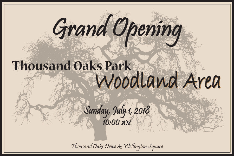 Grand Opening of Thousand Oaks Park - Woodland Area