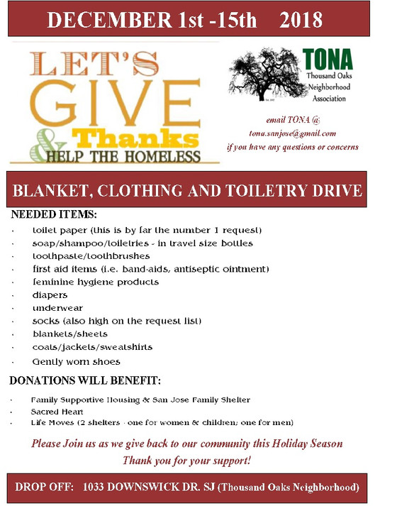 Help the Homeless Drive!