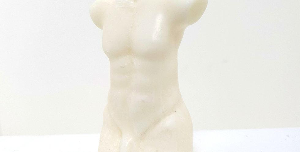 Ivory Male Torso Candle