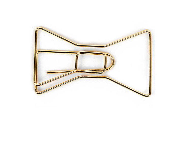 Big Bow Paper Clip - Gold ( set of 2 )