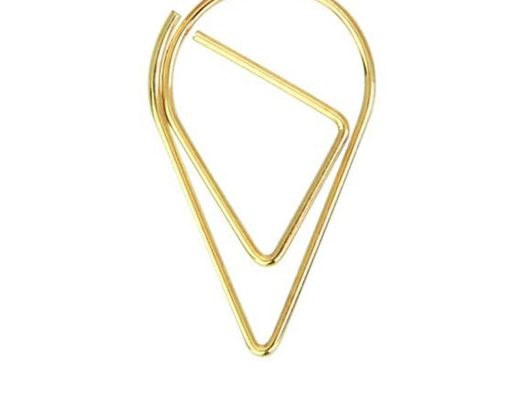 Small Water-drop Paper Clip - Gold