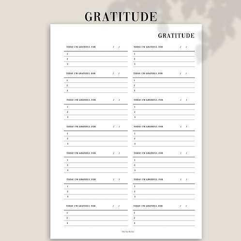 GratitudePlanner Inserts Refills