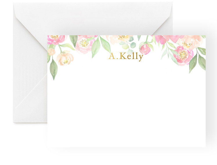Personalised Notecards - Flowers