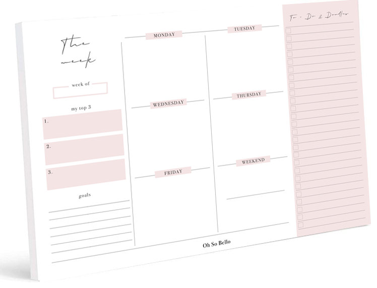 Notepads - Weekly plan