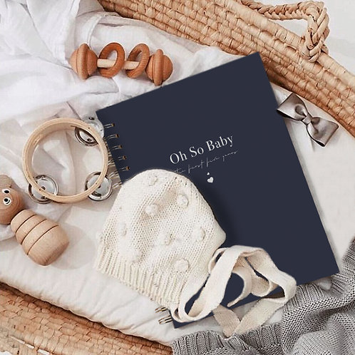 Oh So Baby - The first five years journal - Navy and white foil