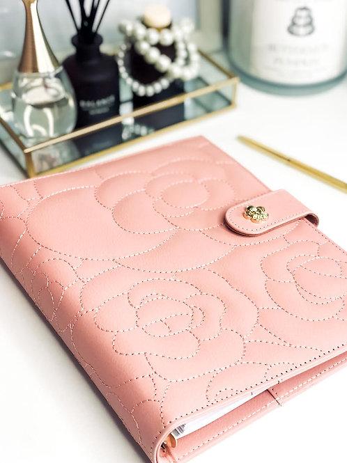 Luxury Vegan Leather A5 Binder | Blush Pink