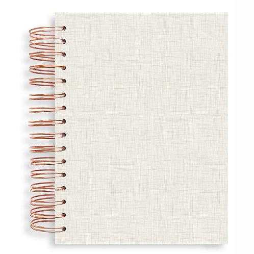 Notebook - Linen Natural Snow