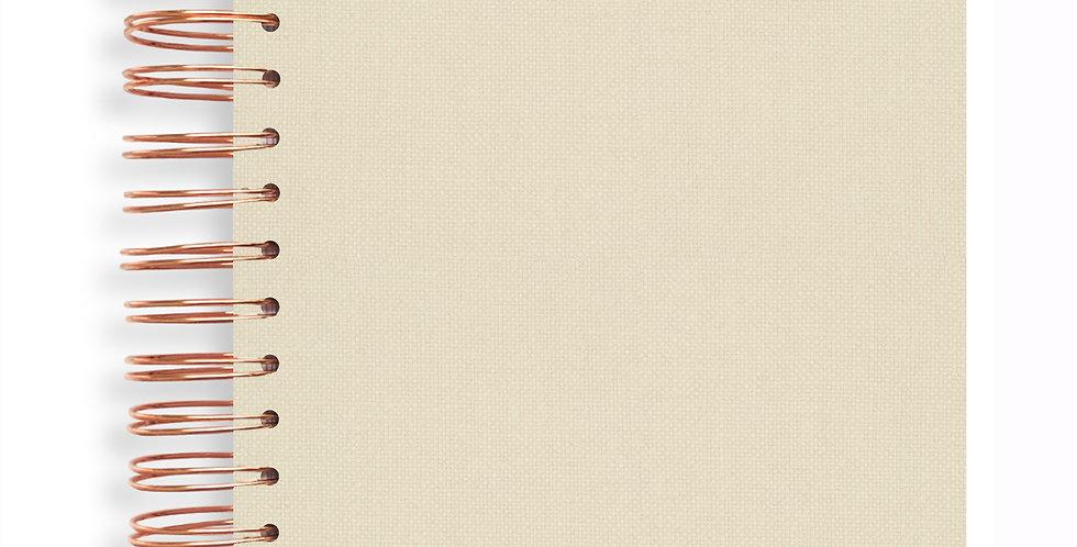 Notebook - Linen Natural Cream