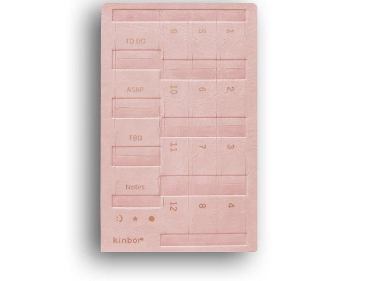 Leather Self Adhesive Index Tabs - Pink