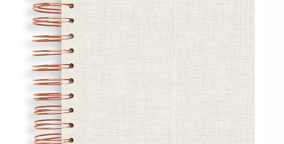 Notebook - Linen Natural Milk