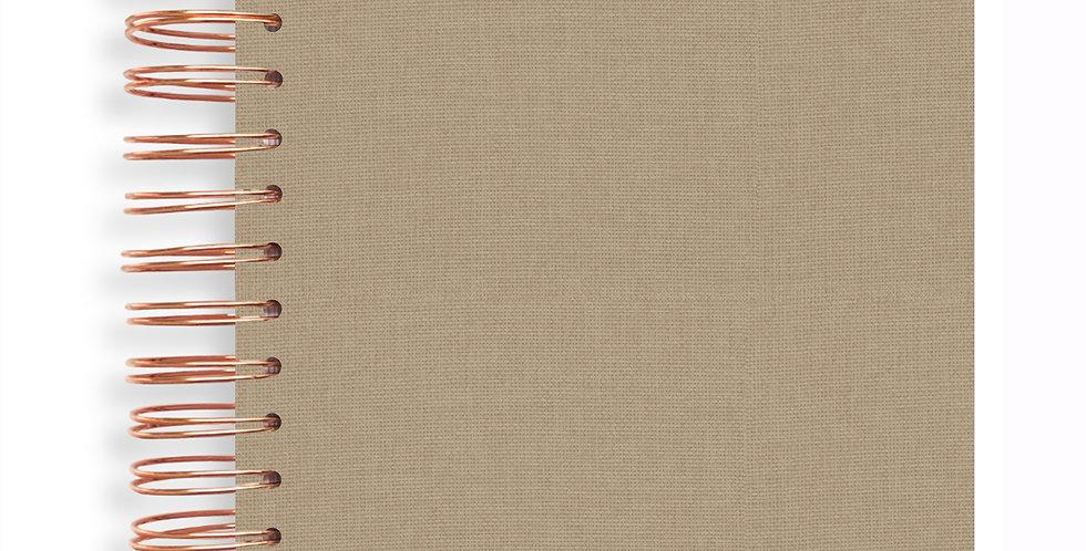 Notebook - Linen Natural Latte