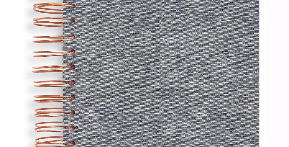 Notebook - Linen Natural Black