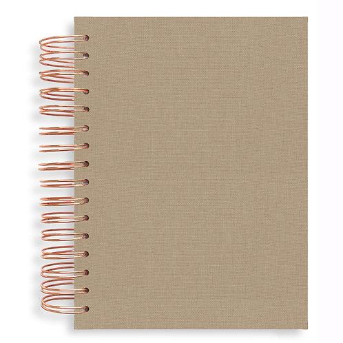 Notebook -Linen Natural Latte