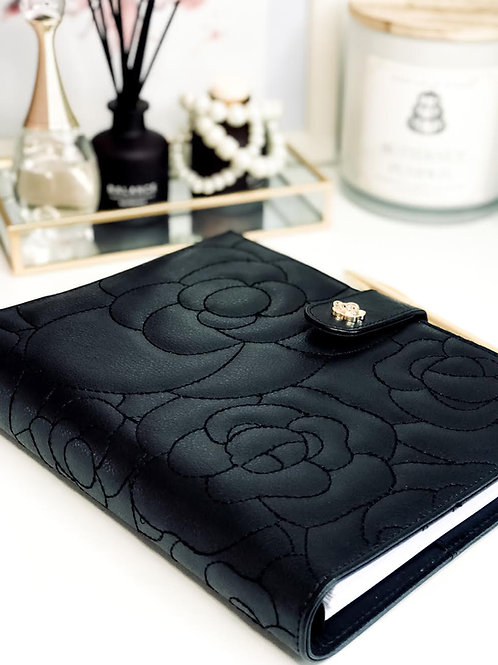 Luxury Vegan Leather A5 Binder | Black
