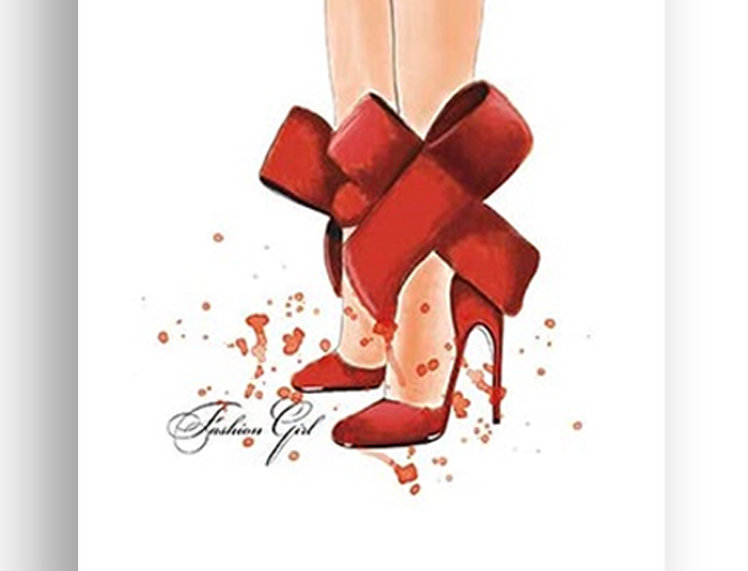Canvas Poster -  Red shoes